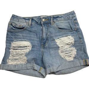 Forever 21 Distressed Rolled Midi Shorts 6